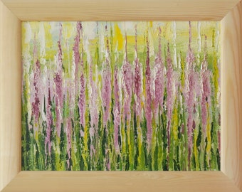 """Oil painting """"Lupins"""", framed, ready to hang"""