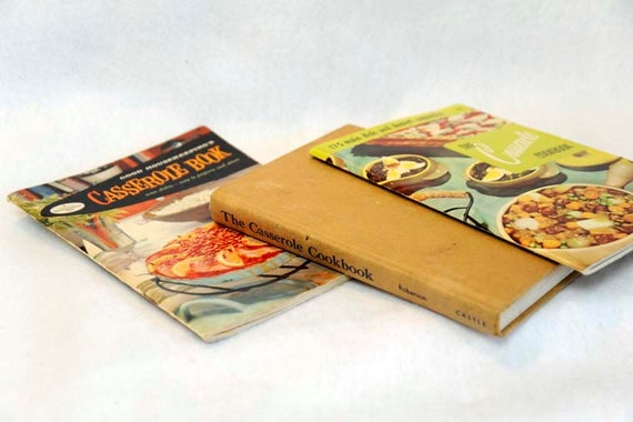3 Vintage 1950's CASSEROLE COOKBOOKS.. Culinary Arts, Good Housekeeping And HB by John & Marie Roberson
