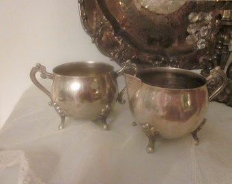 VINTAGE Leonard Silverplate Sugar Creamer Serving Set