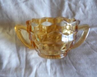 Jeannette Glass Sugar bowl - Amber
