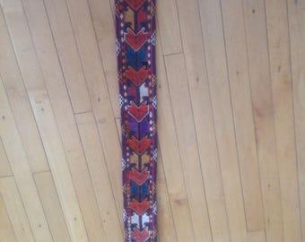Lakai Embroidered Tribal Uzbek Flatweave Trim Piece