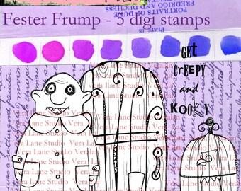 Fester Frump - Creepy and kooky five image digi stamp set from Vera Lane Studio