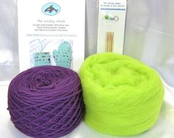Thrummed Mitten Kit (fleece lined) 100% Kettle Dyed Wool