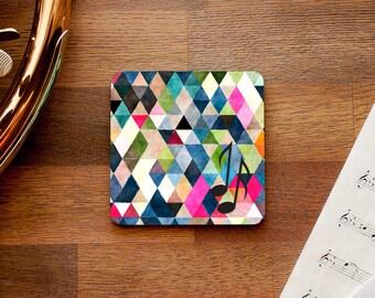 Geometric Music Notes Coaster