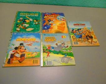 Little Golden Book set, Mickey Mouse, Walt Disney, Inspector Gadget, Donald Duck, Children's books, Collectible books