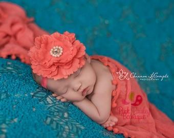 Newborn Headbands - Baby Headband - Light Pink Headband - Baby Hairbow - Easter Flower Bows - Toddler Headband - headband baby - Baby bows