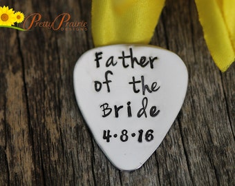 Thank you Dad Gift - Father of the Bride Guitar Pick - Wedding Gift - Wedding Guitar Pick - Groom Guitar Pick - Gift for Him - Custom Pick