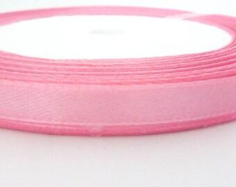 1 m deep pink satin ribbon