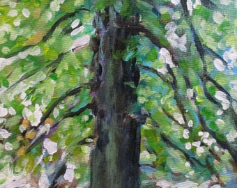 Beech Tree - original daily painting by Kellie Marian Hill