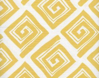 Standard Sham, Ruffled, Maze Corn Yellow, Geometric