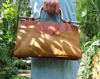 Real vintage leather handbag