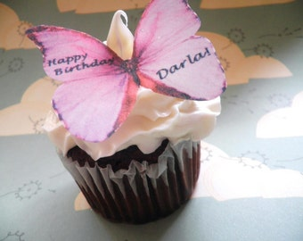 The Original EDIBLE BUTTERFLIES -  Cake & Cupcake toppers - Food Decorations