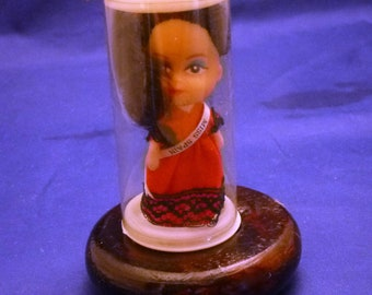 Vintage Miniature Miss Spain Made in Hong Kong Collectible Doll, 1960s
