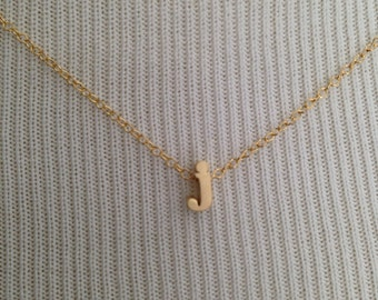 lower case initial necklace, gold initial, gold letter, initial letter, letter necklace, personalized necklace, bridesmaids jewelry, custom