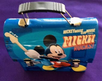 Vintage Mickey Mouse Workmans Tin Lunch Box Collectables.