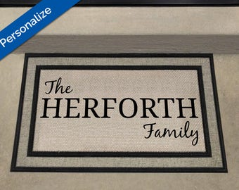 Family Welcome Mat, Personalized Welcome Mat, Custom Door Mat, Custom Doormat, Door Mat, Personalized Gift, New House