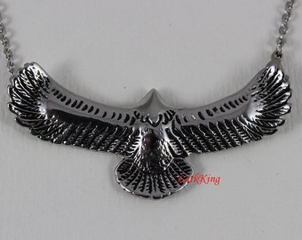 Eagle necklace, bird necklace, animal necklace, stainless steel, eagle head necklace, eagle pendant, unique eagle, popular eagle, NE7003