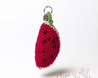 Keychain melon watermelon crochet crochet