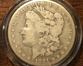 1881 United States Morgan Silver Dollar - Minted in Philadelphia
