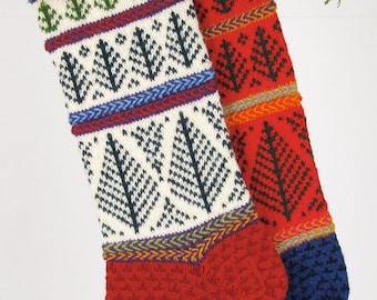 Hand-knit Christmas Stocking, Lauren