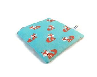 Fox Snack Bag || Reusable Sandwich Bag || Reusable Snack bag || Eco Friendly Gift || Zippered Pouch || Food Safe Bag