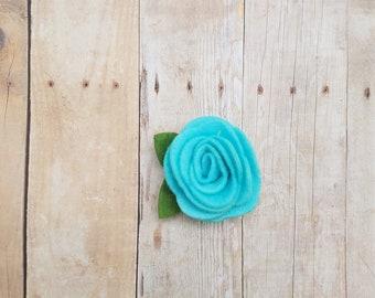 Felt rosette bow, rosette, felt rose bow
