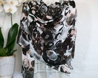 Stone Circles - large scarf wrap shawl contemporary abstract painterly spots cashmere modal limited edition gift