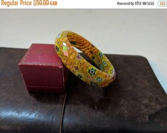 ON SALE Vintage Murano Style Glass Bracelet