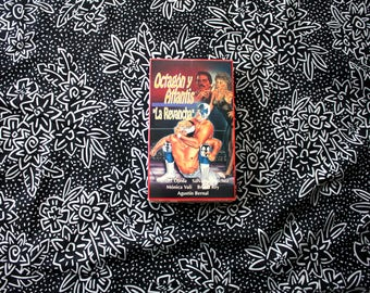 "Octagon Y Atlantis ""La Revancha"" RARE OOP Spanish Language Bix Box Clamshell VHS. Masked Lucha Mexican Wrestler Action Movie Vhs."