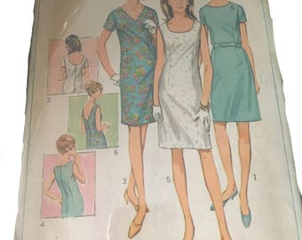 Original 67 Simplicity dress sewing pattern size 16.5 Bust 37