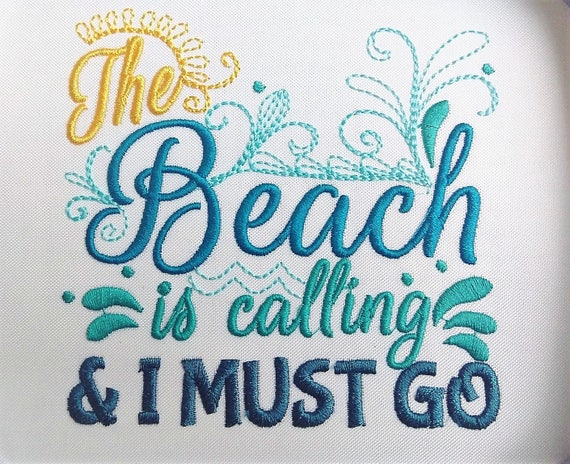 The beach is calling and i must go design