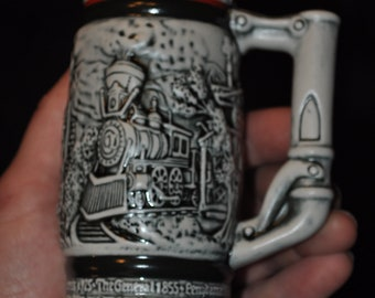 Avon Age of the Iron Horse Collectible Beer Stein