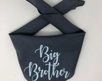SALE- Dog Pregnancy Announcement Bandana, Big Brother Dog Bandana, Big Brother To Be Pregnancy Announcement, Big Sister, Big Brother Bandana