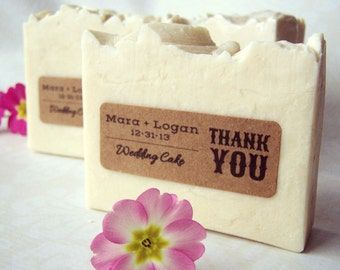 Wedding Favor Soaps - custom personalized rustic wedding party favors - 2 oz