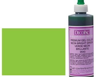 8 OZ Bright Green Premium Food Coloring Gel/ Green Gel Food Coloring/ Professional Lime Green Food Coloring