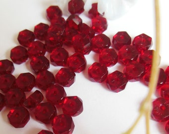 set of 40 glass rondelle beads