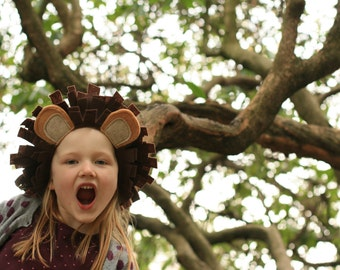 Child's Lion Tail & Ears - Lion Animal costume - Lion King - Cowardly Lion
