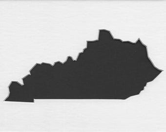 Pack of 3 Square Kentucky State Stencils Made From 4 Ply Mat Board 12x12, 8x8 and 6x6 -Package includes One of Each Size