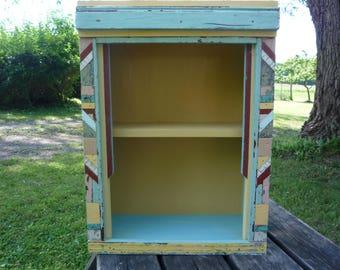 multi colored shelf