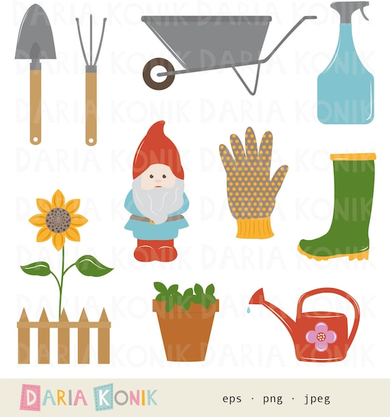 Garden clip art set gardening clip art gardening utensils for Gardening tools toronto