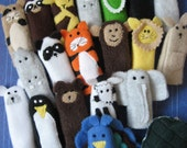 You choose 5- Furry Fingers Finger Puppets- Zoo Pals