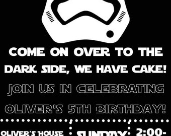 Star Wars Birthday Invitation- Printable