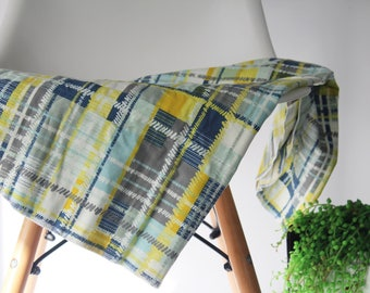 MADE TO ORDER Plaid swaddle blanket, Baby swaddle/ wrap, Baby blanket, Bassinet/ pram blanket, Nursery decor, Newborn/ baby shower gift.