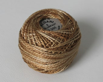 Size 8 Valdani Ancient Gold H 205 Pearl cotton thread Ball - Hand dyed - Heirloom European designer collection