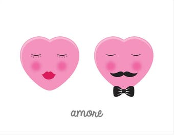 Amore / Love Greeting Card with Envelope