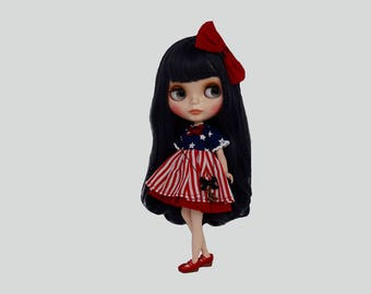 Blythe Dress and Bow Hair Clip (only 1 available)