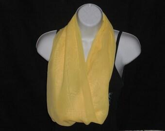 Yellow Sheer Infinity Scarf