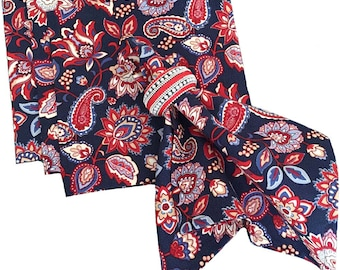 Red, White and Blue Floral Napkins, Patriotic Napkins, Americana Napkins