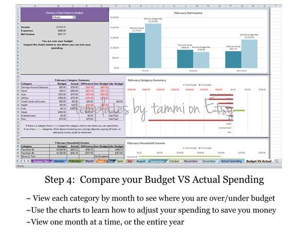 Excel Budgetplaner Einfaches Budget Detaillierte