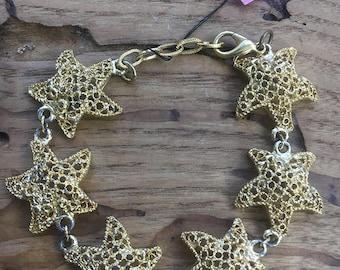 vintage 70s star fish bracelet